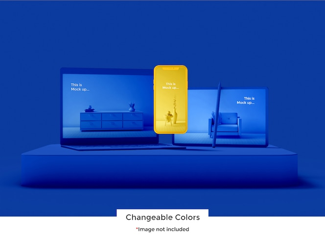 Maqueta de dispositivo de conjunto 3d