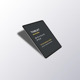 Maqueta de dispositivo de tableta con sombra inferior