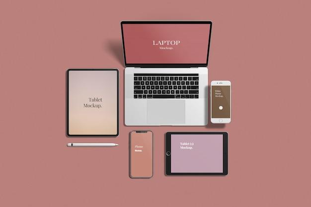 Maqueta de dispositivos múltiples