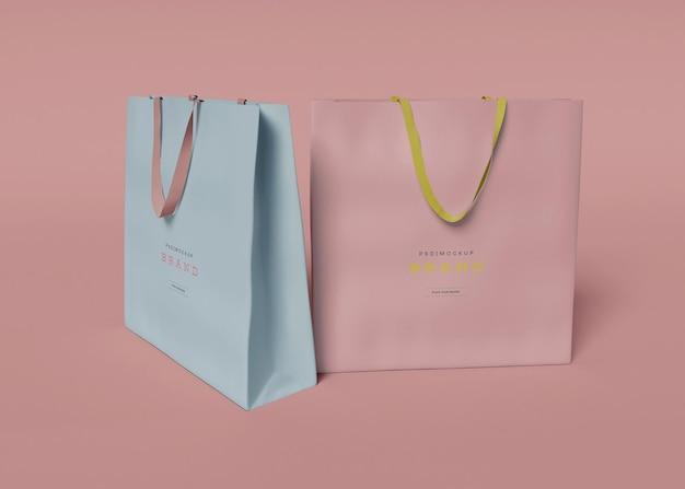 Maqueta de dos bolsas
