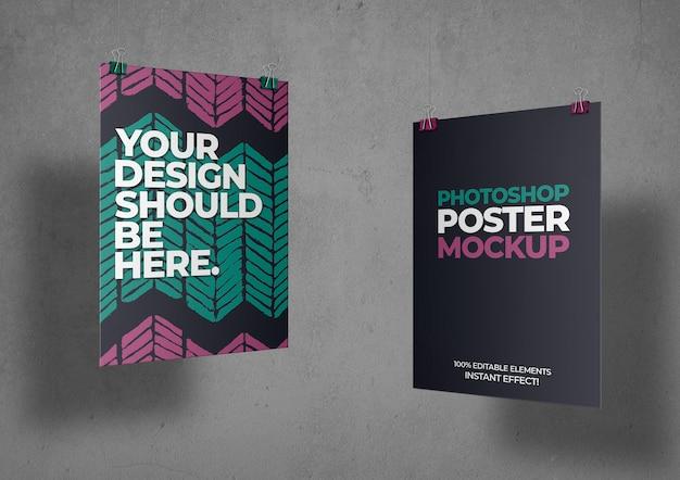 Maqueta de dos carteles