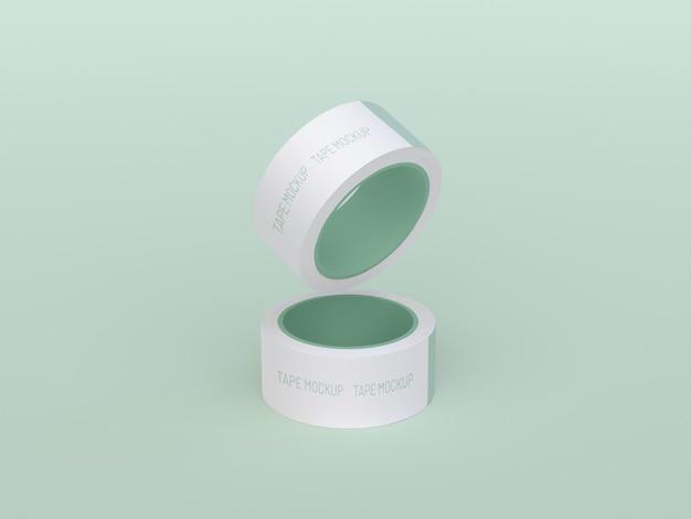Maqueta de dos cintas adhesivas
