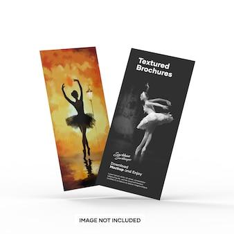 Maqueta de dos folletos con textura