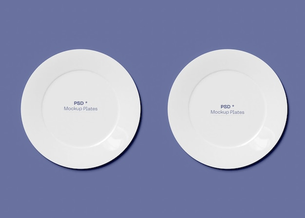 Maqueta de dos platos