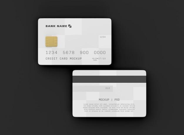 Maqueta de dos tarjetas de crédito