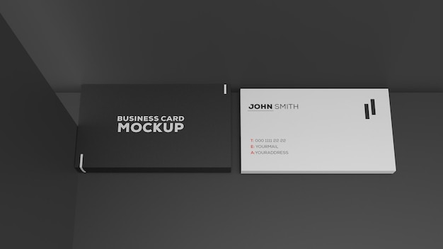 Maqueta de dos tarjetas de presentación de papel