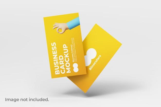 Maqueta de dos tarjetas de visita modernas y limpias