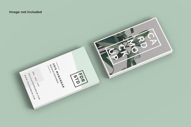Maqueta de dos tarjetas de visita