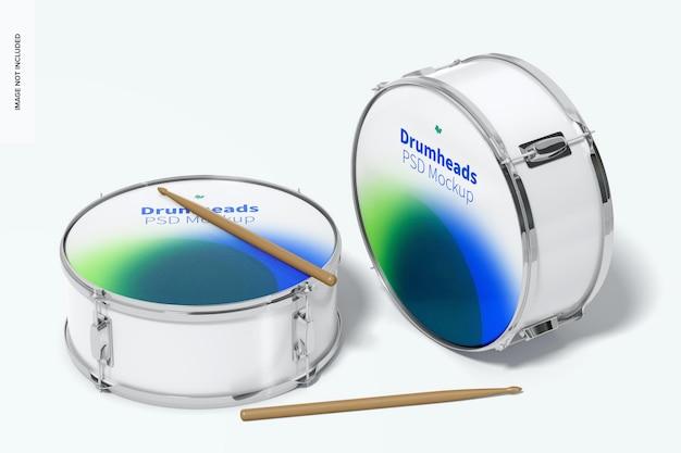 Maqueta de drumheads