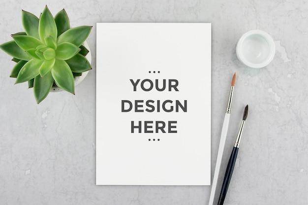 Maqueta editable de papel