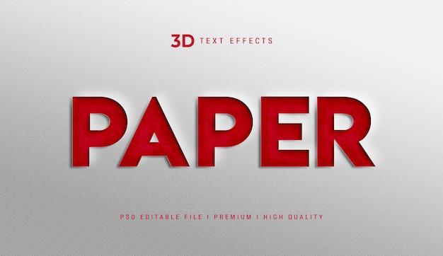Maqueta de efecto de estilo de texto de papel 3d