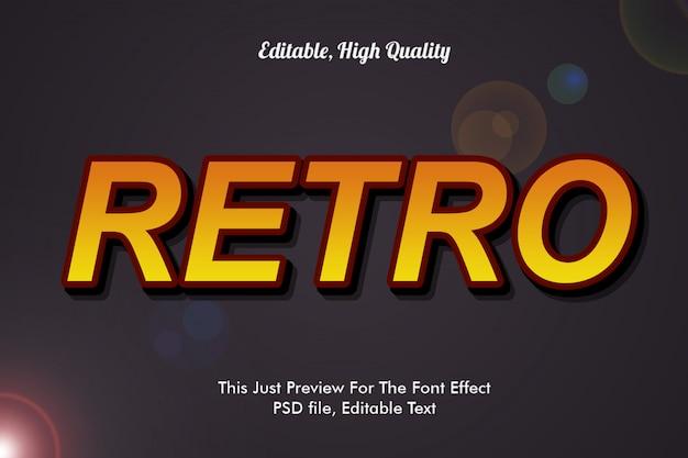 Maqueta de efecto de fuente retro
