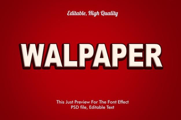 Maqueta de efecto de fuente walpaper