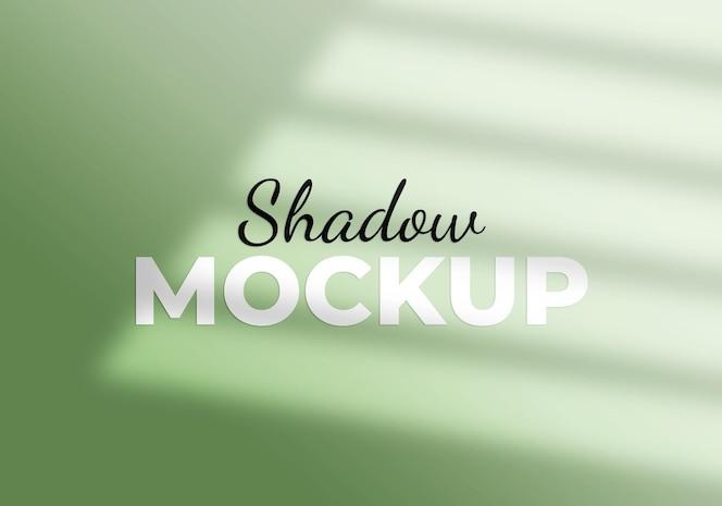 Maqueta de efecto de superposición de sombra de ventana