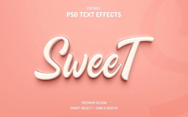Maqueta de efecto de texto 3d editable dulce