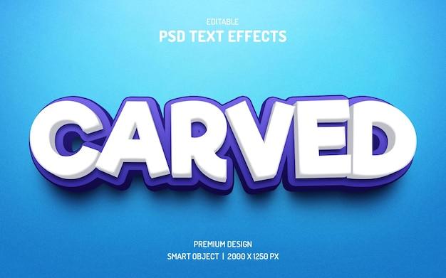 Maqueta de efecto de texto 3d editable tallado