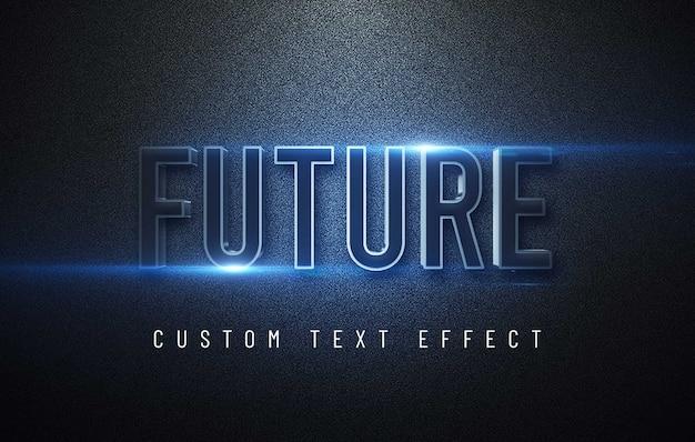 Maqueta de efecto de texto 3d futurista