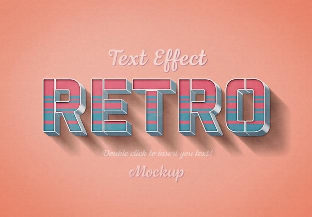 Maqueta de efecto de texto 3d retro
