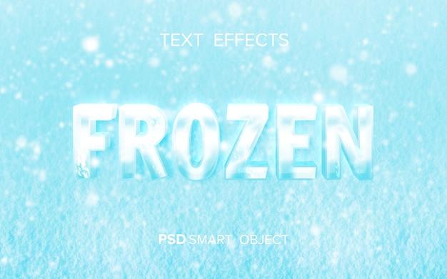 Maqueta de efecto de texto de agua