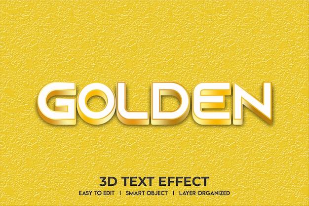 Maqueta de efecto de texto dorado