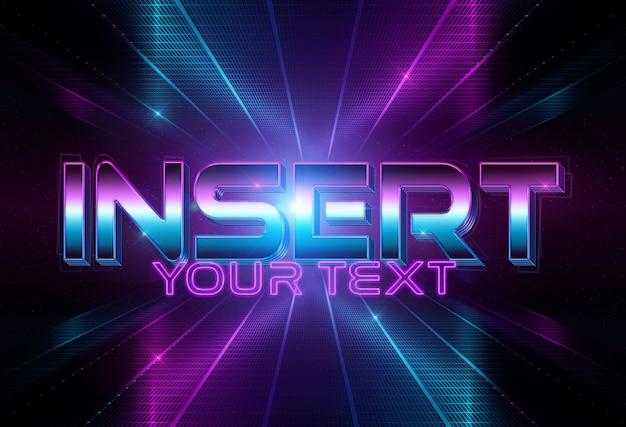 Maqueta de efecto de texto de estilo disco