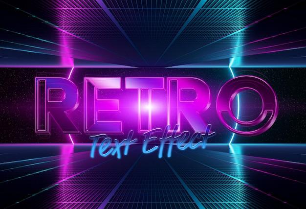 Maqueta de efecto de texto estilo retro de los años 80