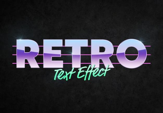 Maqueta de efecto de texto de estilo retro