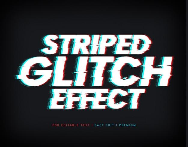 Maqueta de efecto de texto de glitch rayado