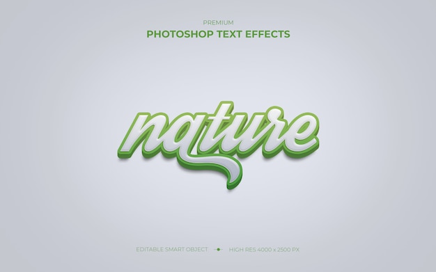 Maqueta de efecto de texto de naturaleza