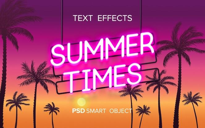 Maqueta de efecto de texto de neón