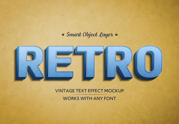 Maqueta de efecto de texto retro