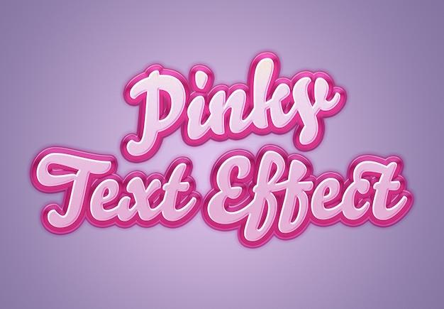 Maqueta de efecto de texto rosa retro