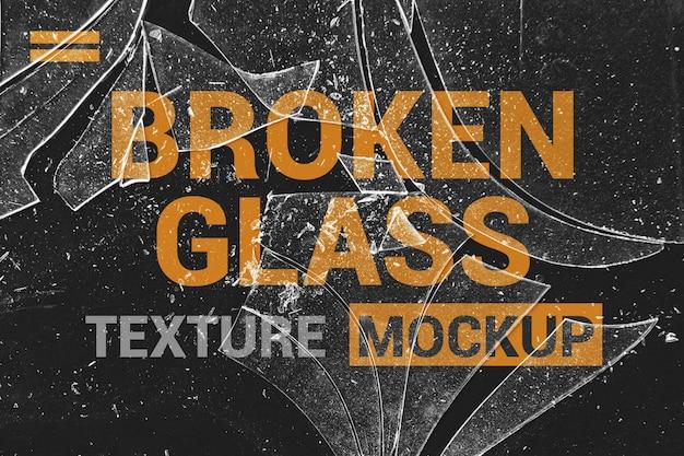 Maqueta de efectos de fragmentos de vidrio