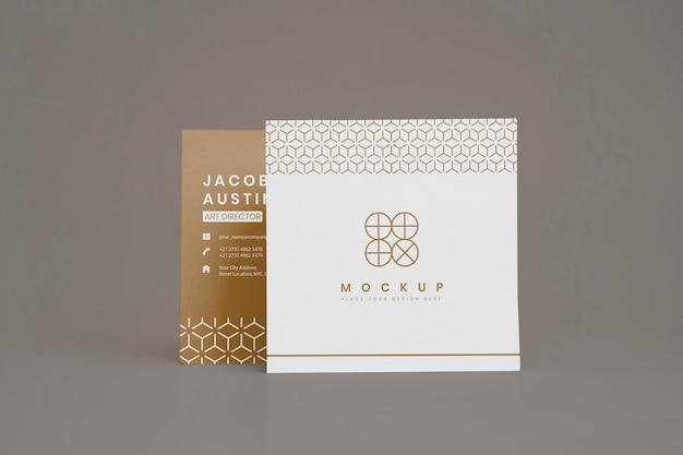 Maqueta elegante para tarjeta de visita corporativa