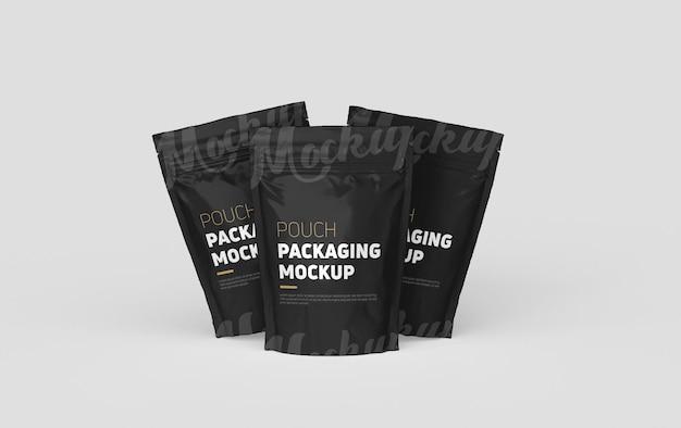 Maqueta de embalaje de bolsa de plástico moderna standup