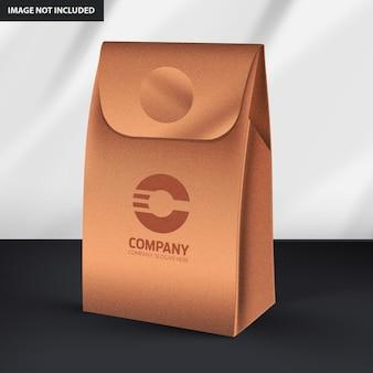 Maqueta de embalaje de bolsas de papel