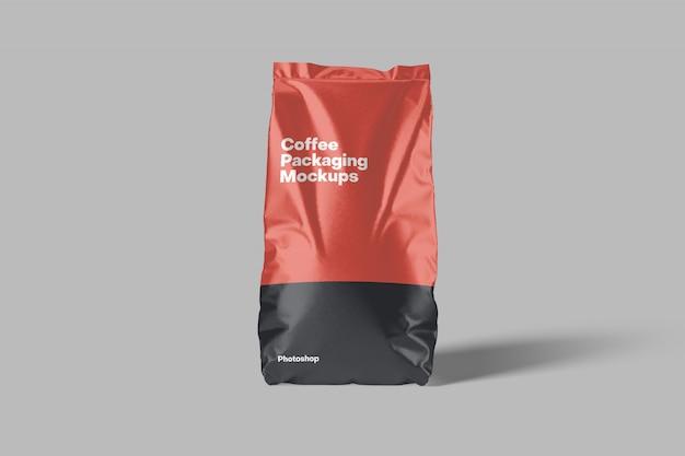 Maqueta de embalaje de café