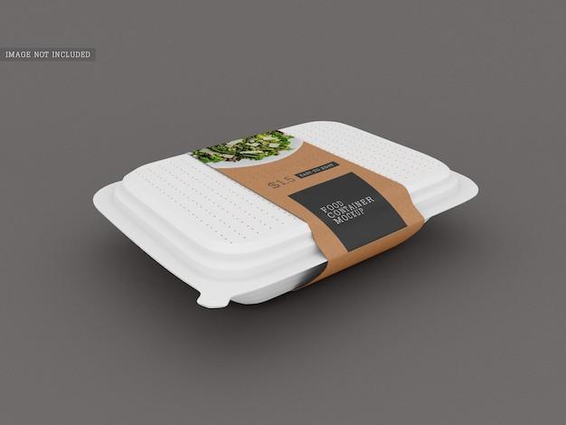 Maqueta de embalaje de caja de comida
