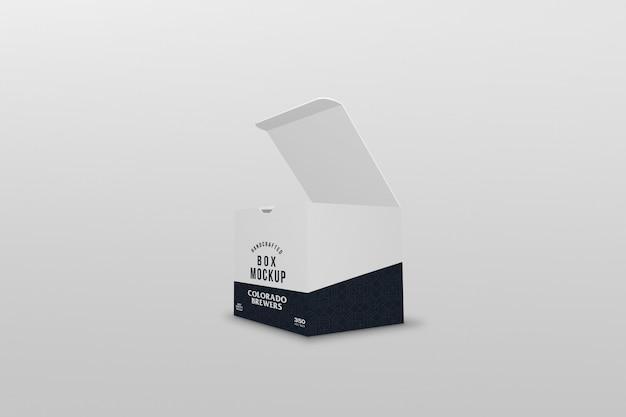 Maqueta de embalaje de caja cuadrada