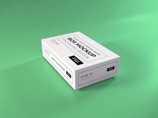 Maqueta de embalaje de caja realista