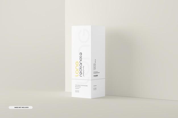 Maqueta de embalaje de caja rectangular larga
