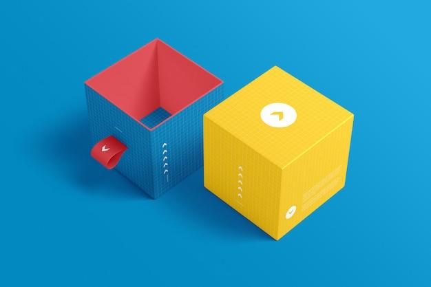 Maqueta de embalaje de caja