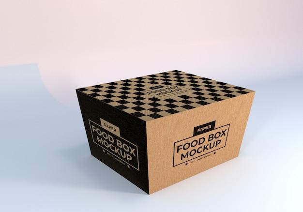 Maqueta de embalaje de cajas de alimentos de papel