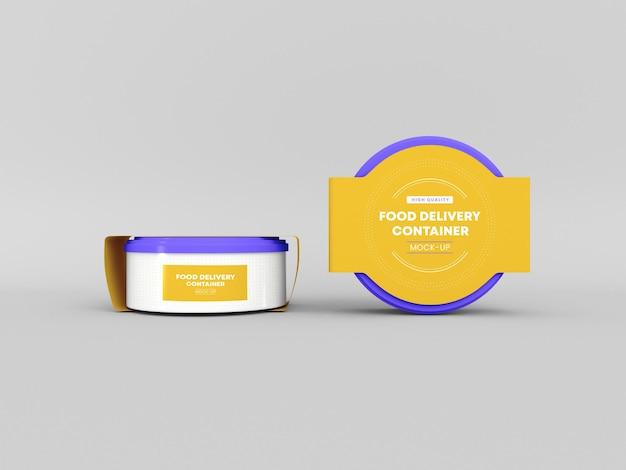 Maqueta de embalaje de contenedor de entrega de alimentos