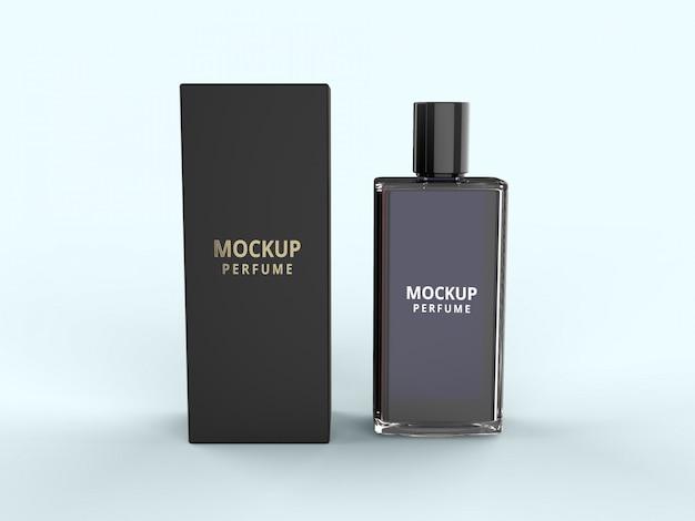 Maqueta de embalaje de perfume