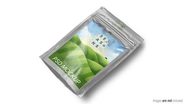 Maqueta de embalaje de productos doypack
