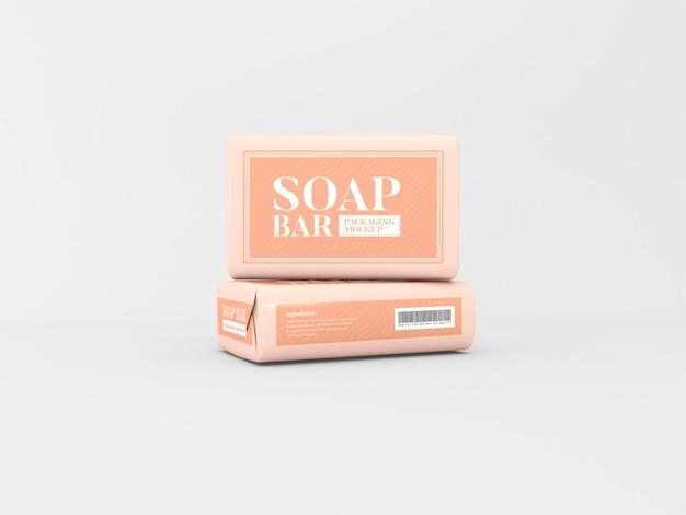Maqueta de empaque de barra de jabón