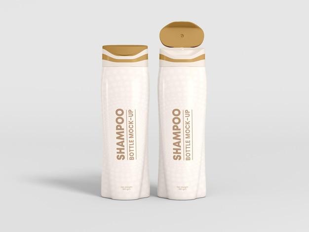 Maqueta de empaque de botella de champú