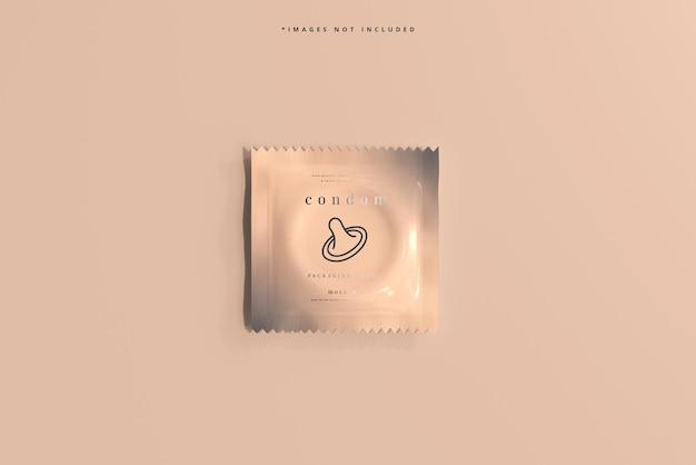 Maqueta de empaque de condones