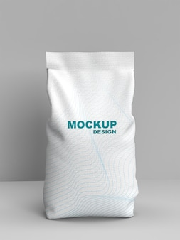 Maqueta de empaque de harina